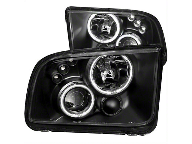 CCFL Halo Projector Headlights; Black Housing; Clear Lens (05-09 GT, V6)