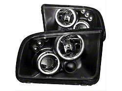 CCFL Halo Projector Headlights; Black Housing; Clear Lens (05-09 w/ Factory Halogen Headlights, Excluding GT500)