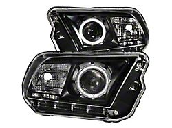 CCFL Halo Projector Headlights; Black Housing; Clear Lens (10-12 w/ Factory Halogen Headlights)