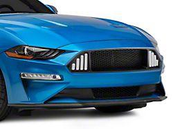 Badgeless Honeycomb Mesh Upper Grille with LED DRL; Matte Black (18-21 GT, EcoBoost)