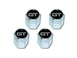 Scott Drake Valve Stem Caps with GT Logo (Universal; Some Adaptation May Be Required)