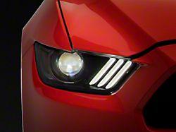 Factory Style Headlights; Matte Black Housing; Clear Lens (15-17 All; 18-21 GT350, GT500)