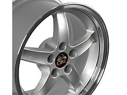 Copperhead 2003 Cobra Style Silver Machined Wheel; Rear Only; 17x10.5 (94-98 All)