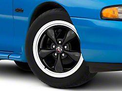Copperhead Bullitt Style Gloss Black Machined Wheel; 17x8 (94-98 All)