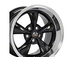 Copperhead Bullitt Style Gloss Black Machined Wheel; Rear Only; 17x10.5 (99-04 All)