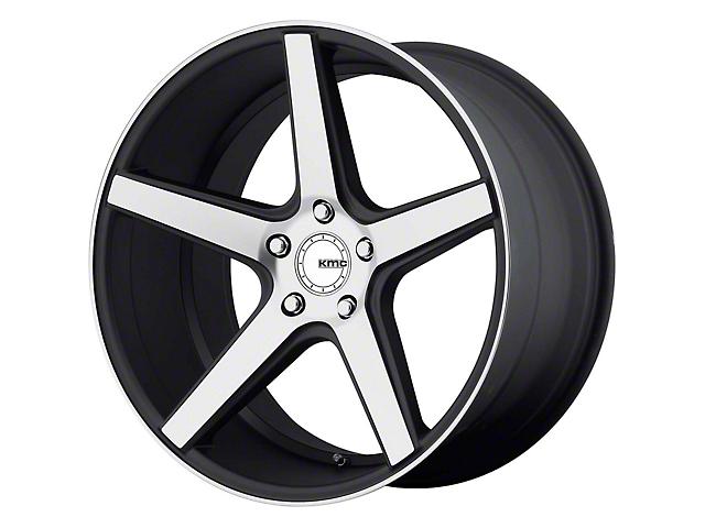 KMC KM685 District Satin Black Machined Wheel; 18x8 (94-98 All)
