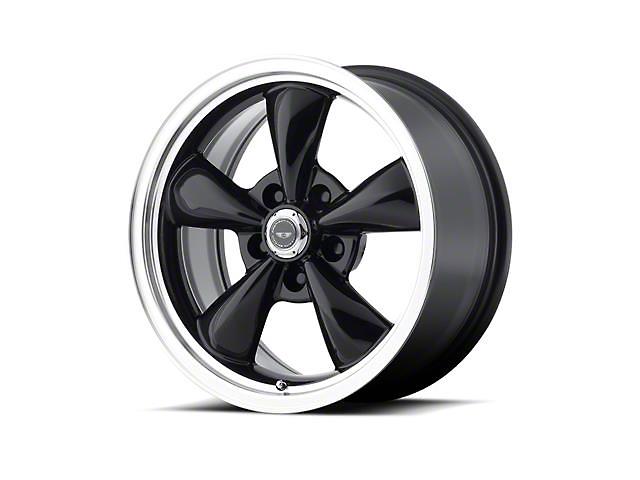 American Racing TORQ THRUST M Gloss Black Machined Wheel; 17x9 (94-98 All)