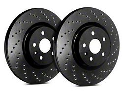 SP Performance Cross-Drilled Rotors with Black Zinc Plating; Front Pair (94-04 GT, V6)