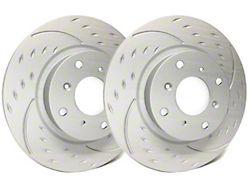 SP Performance Diamond Slot Rotors with Gray ZRC Coating; Front Pair (1979 5.0L; 82-83 All; 84-86 5.0L; 87-93 2.3L)