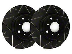 SP Performance Peak Series Slotted Rotors with Black Zinc Plating; Front Pair (94-04 Cobra, Bullitt, Mach 1)