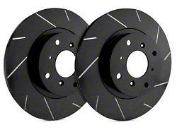 SP Performance Slotted Rotors with Black Zinc Plating; Front Pair (94-04 Cobra, Bullitt, Mach 1)