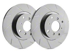 SP Performance Slotted Rotors with Gray ZRC Coating; Front Pair (1979 5.0L; 82-83 All; 84-86 5.0L; 87-93 2.3L)