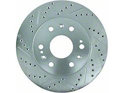 StopTech Select Sport Drilled and Slotted Rotor; Front Driver Side (79-81 2.3L, 2.8L, 3.3L)