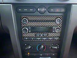 Radio Accent Trim; Domed Carbon Fiber (05-09 All)