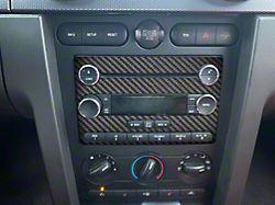 Radio Accent Trim; Raw Carbon Fiber (05-09 All)