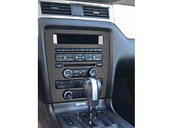 Standard Radio Display Accent Trim; Domed Carbon Fiber (10-14 All)