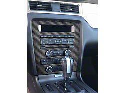 Standard Radio Display Accent Trim; Raw Carbon Fiber (10-14 All)