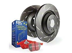 EBC Brakes Stage 4 Redstuff Brake Rotor and Pad Kit; Front (11-14 GT Brembo; 12-13 BOSS 302; 07-12 GT500)