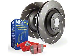 EBC Brakes Stage 4 Redstuff Brake Rotor and Pad Kit; Rear (15-21 Standard GT, EcoBoost w/ Performance Pack)
