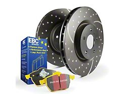 EBC Brakes Stage 5 Yellowstuff Brake Rotor and Pad Kit; Front (15-21 Standard EcoBoost, V6)