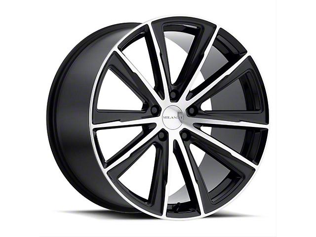 Vision Wheel 471 Splinter Gloss Black Machined Wheel; Rear Only; 20x10.5 (05-09 All)