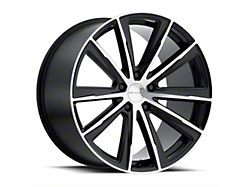 Vision Wheel 471 Splinter Gloss Black Machined Wheel; Rear Only; 20x10.5 (10-14 All)