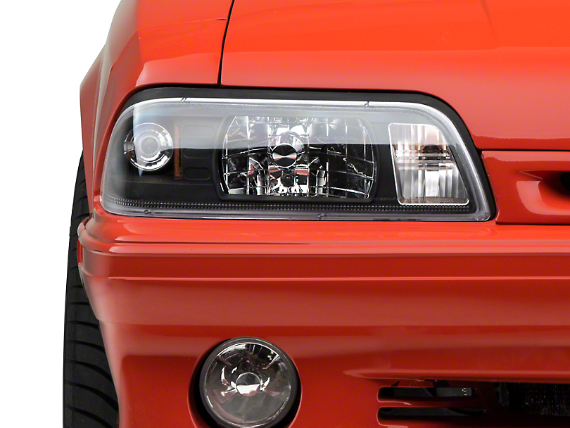 Axial Black One-Piece Headlights (87-93 All)