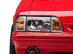 Axial Headlights; Chrome (87-93 All)