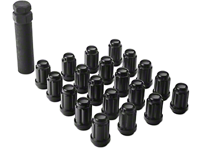 Black 6 Spline Lug Nuts w/ Key - 1/2 in. x 20 (79-14 All)