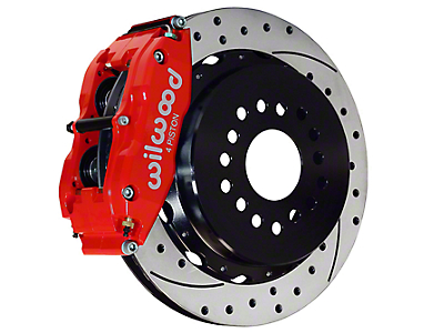Wilwood Superlite 6R Rear Brake Kit w/ Drilled & Slotted Rotors - Red (05-14 All)