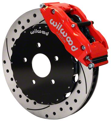 Wilwood Superlite 6R Front Brake Kit w/ 12.90 in. Drilled & Slotted Rotors - Red (94-04 All)