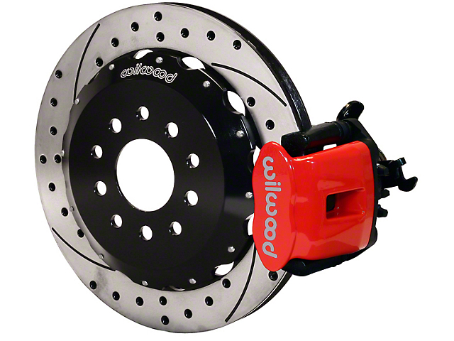 Wilwood CPB Rear Brake Kit w/ Drilled & Slotted Rotors - Red (94-04 GT, V6)