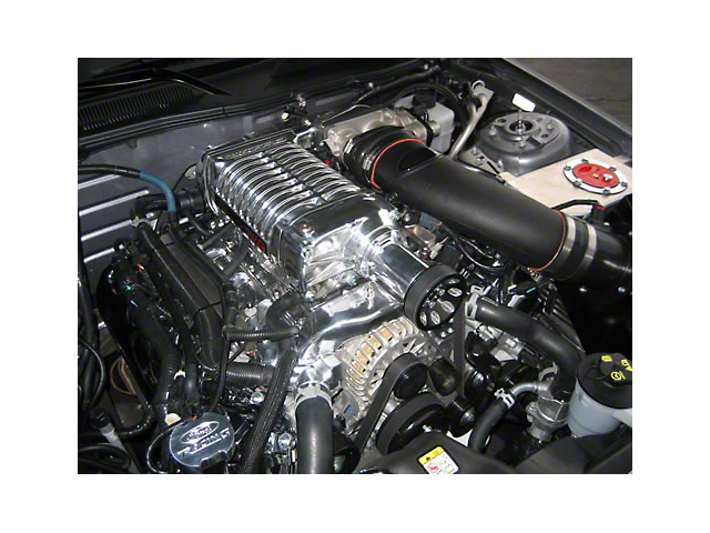 Whipple W175AX 2.9L Supercharger Upgrade Kit; Polished (11-12 GT)