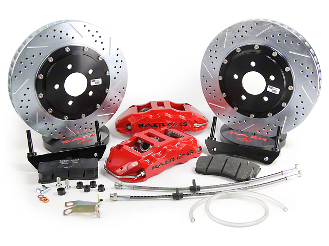 Baer Extreme Plus Front Big Brake Kit; Red Calipers (05-14 All)