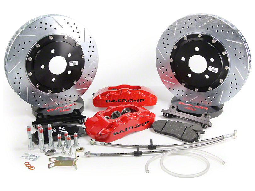 Baer Pro Plus Front Big Brake Kit; Red Calipers (05-14 All)