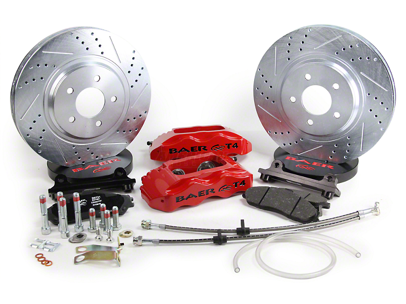 Baer Track-4 Front Big Brake Kit - Red Calipers (94-04 All)