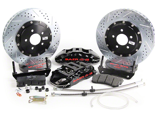Baer Extreme Plus Front Big Brake Kit; Black Calipers (05-14 All)