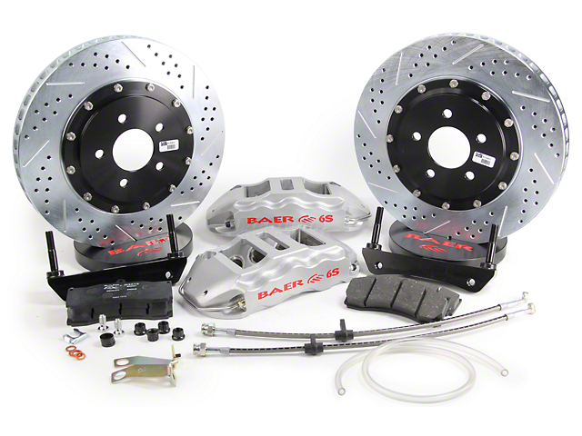 Baer Extreme Plus Front Big Brake Kit; Silver Calipers (05-14 All)