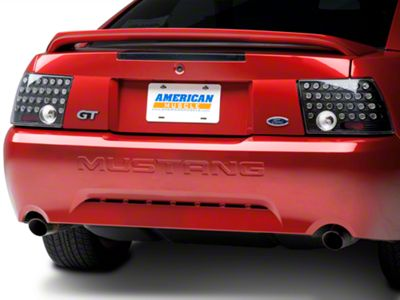 Black Solid LED Tail Lights (99-04 All; Excluding Cobra)