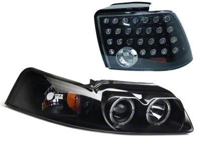 Axial Smoked Projector LED Headlight and LED Tail Light Combo (99-04 All, Excluding Cobra)