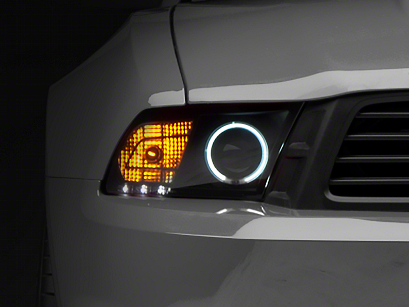 Raxiom Smoked Projector Headlights with Halo for Factory HID (10-12 GT, V6 w/ Factory HID)