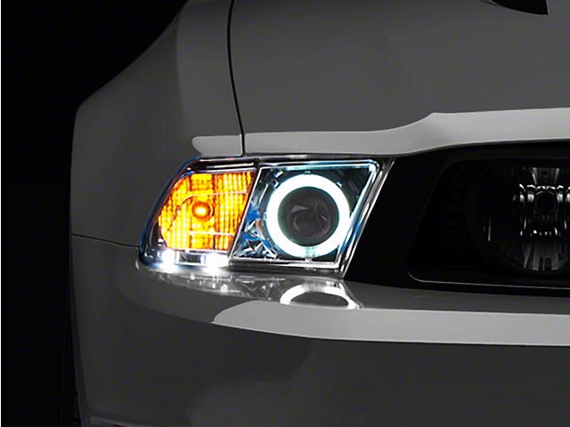 Raxiom Chrome Projector Headlights - CCFL Halo (10-12 GT, V6 with Factory HID)