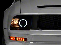 Raxiom 2010 Style LED Halo Headlights; Black Housing; Smoked Lens (05-09 GT, V6)