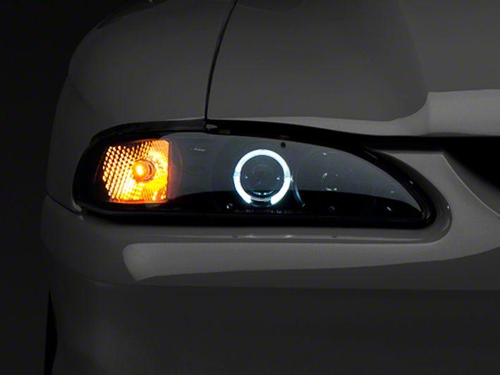 Raxiom Smoked Projector Headlights - LED Halo (94-98 All)