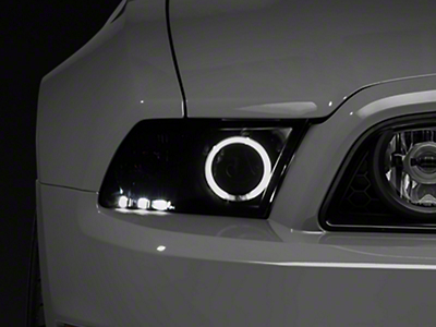 Raxiom Smoked Projector Headlights with Halo for Factory HID (13-14 GT, V6 w/ Factory HID)
