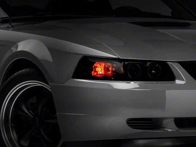 how to turn on mustang lights