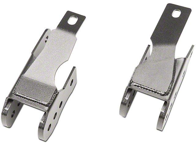 BMR Rear Lower Control Arm Relocation Brackets; Black Hammertone (05-14 All)