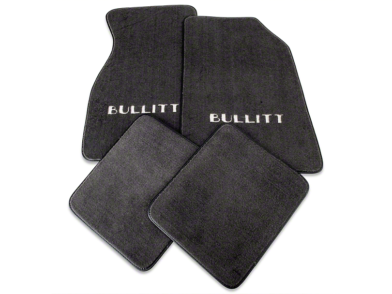 Alterum Front & Rear Floor Mats w/ Bullitt Logo - Graphite (99-04 All)