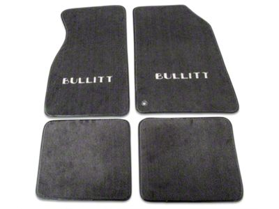 Mustang Front And Rear Floor Mats With Bullitt Logo Graphite 99 04 All
