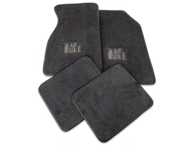 Front & Rear Floor Mats w/ Mach 1 Logo - Graphite (99-04 All)